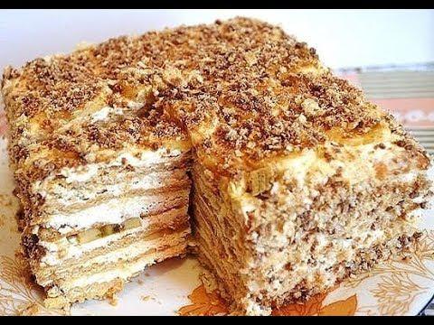 Торт со сгущенкой за 30 минут. Простой рецепт вкусного торта