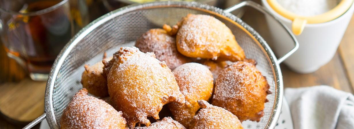 Вкуснейшие апельсиново-яблочные пончики за 10 минут