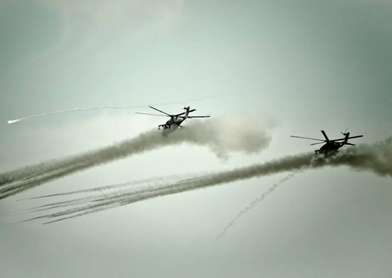 Более 20 вертолетов прошли испытание в горах Кубани в ходе учений