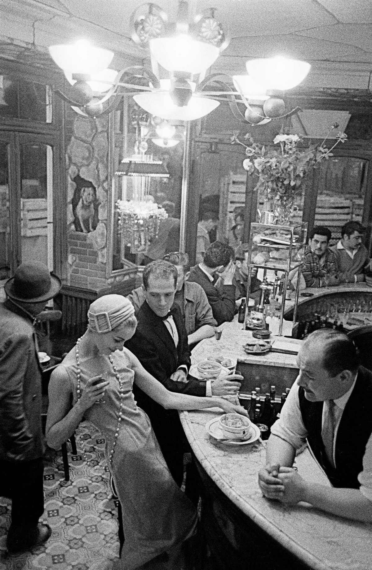 «Ночной Париж» 1956 года на снимках Франка Хорвата