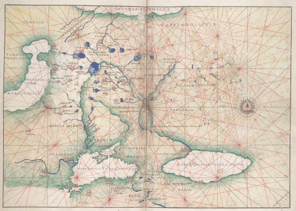«Карта Московии, составленная по рассказу посла Димитрия».
