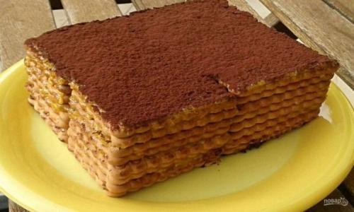 Кофейный торт из печенья.