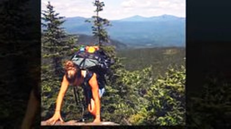 Забралась в горы, чтобы встретить там… «монстра в перьях»