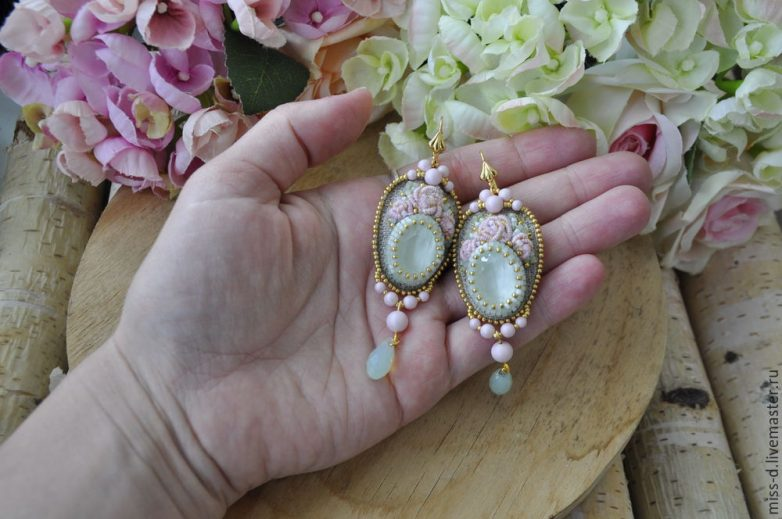 Серьги c кристаллами Swarovski своими руками