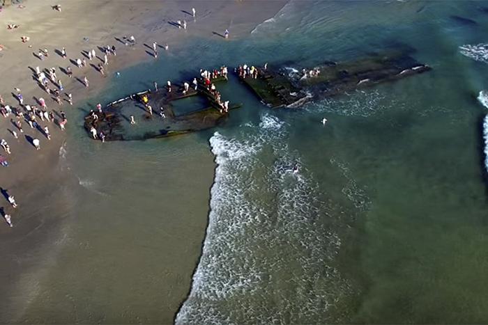 Найденные в Калифорнии останки судна по размерам напоминают *Любовь Орлову*.