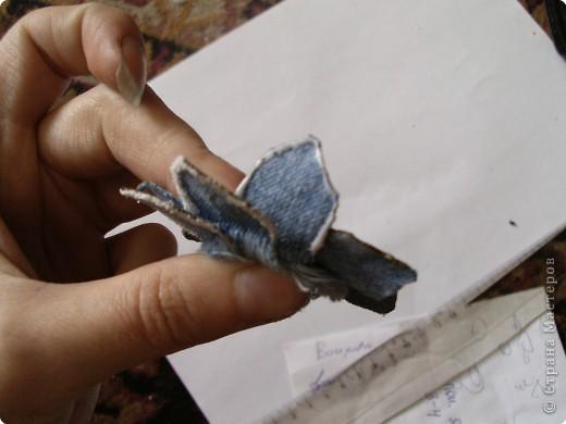 Мастер-класс Вырезание: Цветок из джинса №2+МК Ткань. Фото 15