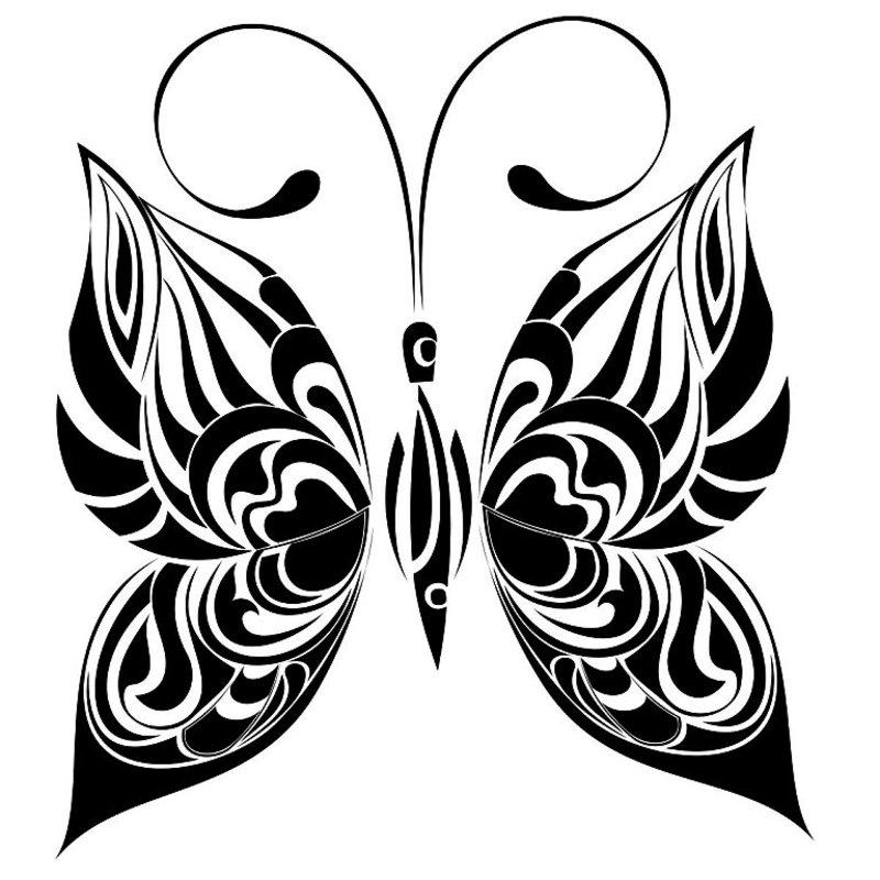 Большие бабочки (трафареты, рисунки)