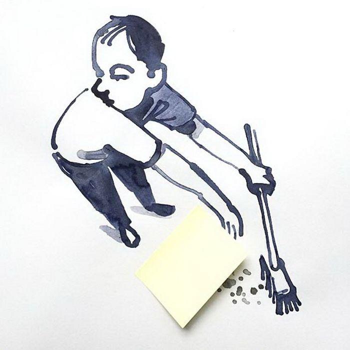 Забавные иллюстрации с предметами  иллюстрации, предмет