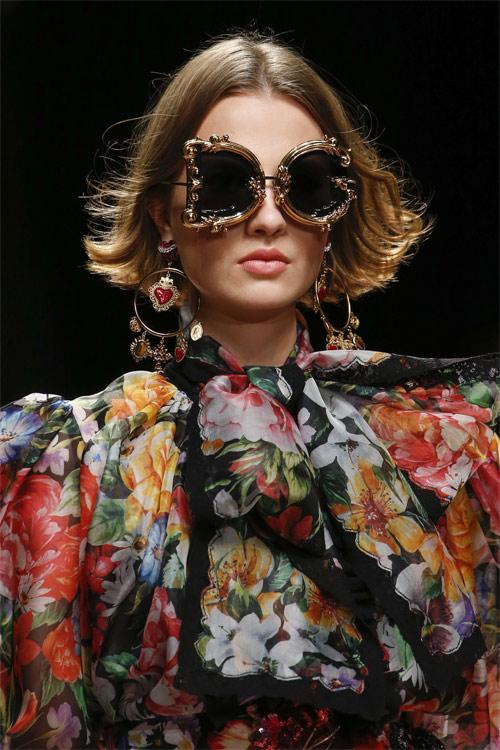 Оправа в стиле барокко в коллекции Dolce & Gabbana SS 2019