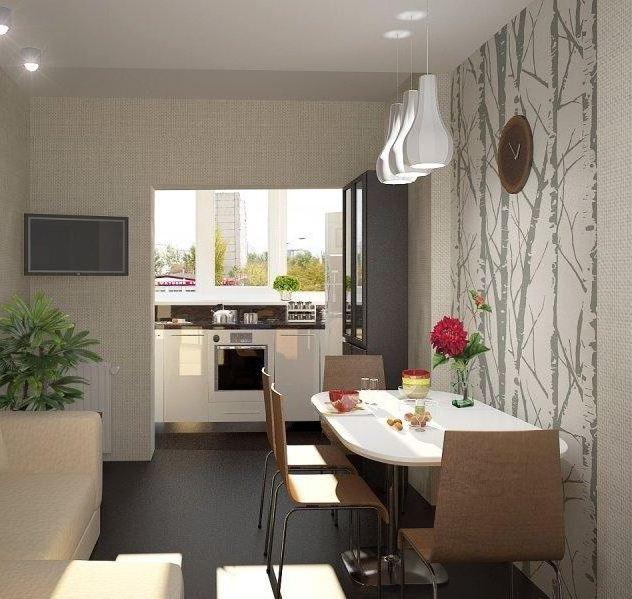 Как обустроить балкон с кухней фото