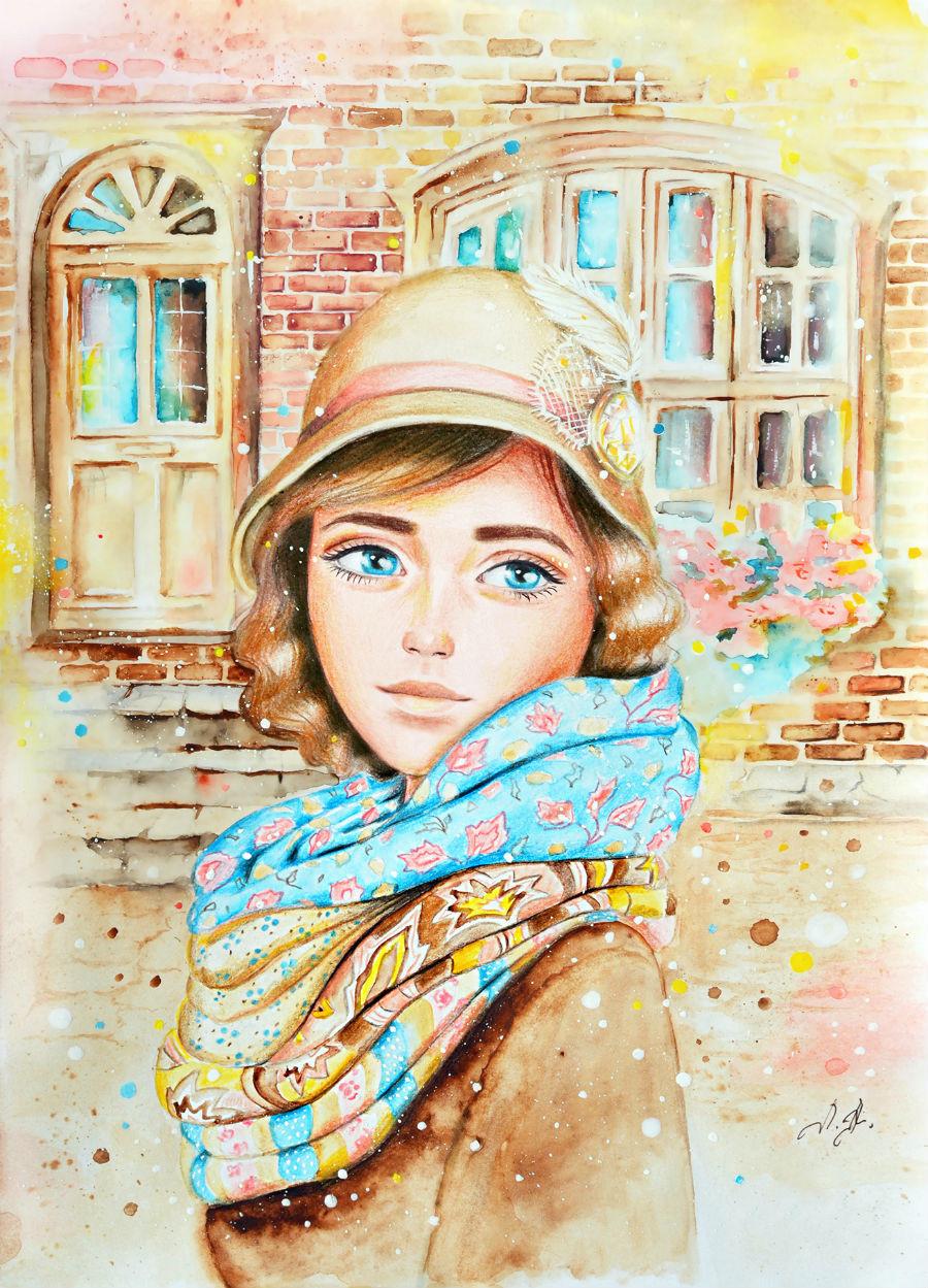О женственности, душе и красоте... Художник-иллюстратор Александра Лиукконен