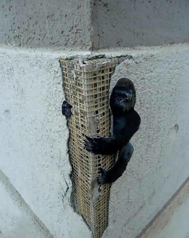 Мини Конг вандализм, граффити, инсталляция, искусство, мир, творчество, улица, художник