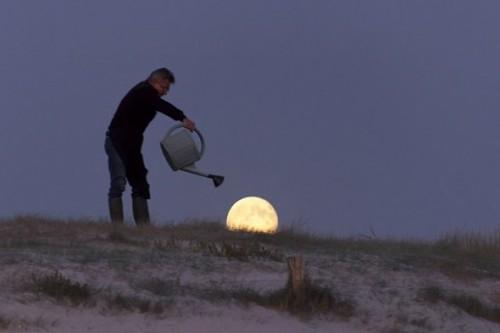 Лунный пейзаж, интересные пейзажи, лунный фото-пейзаж