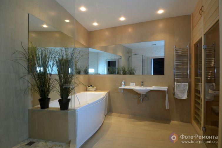 Дизайн большой ванной комнаты!