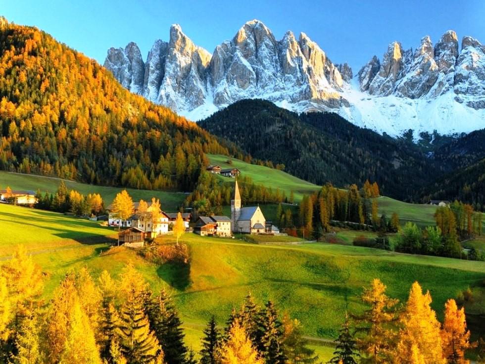 Волшебная красота Доломитовых Альп