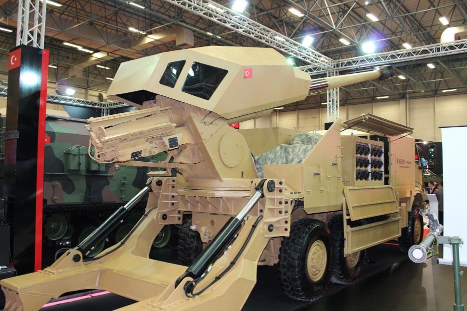 Новые турецкие 155-мм самоходные гаубицы на колесном шасси