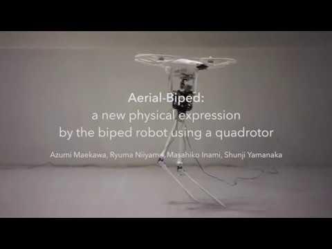 Aerial-Biped - квадрокоптер на двух ногах