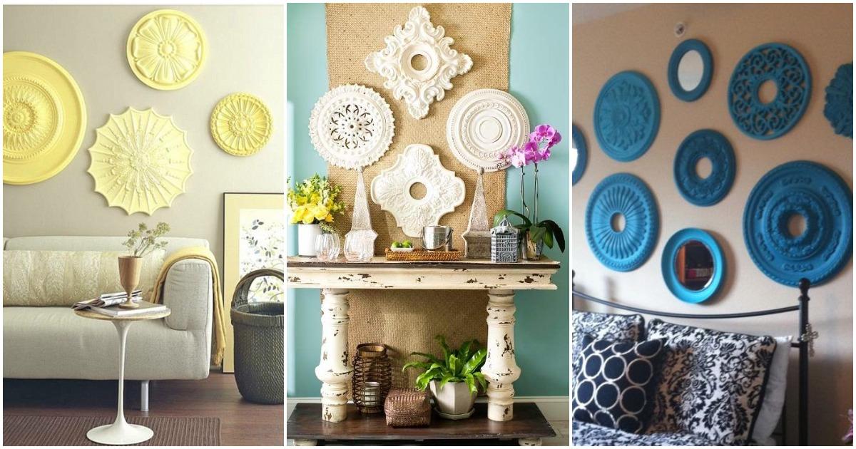 Декоративные розетки — бюджетная альтернатива дорогостоящей лепнине