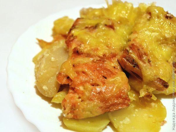 Филе горбуша запеченная в духовке рецепт с пошагово с картошкой и