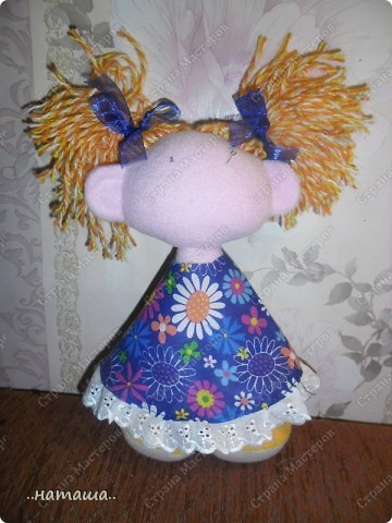 Игрушка, Куклы Шитьё: Куклята Пряжа, Пуговицы, Ткань. Фото 6