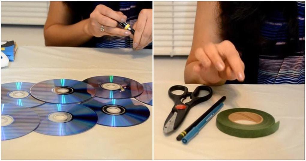 Не знаете, куда деть старые СД-диски? Отличная идея для декора комнаты