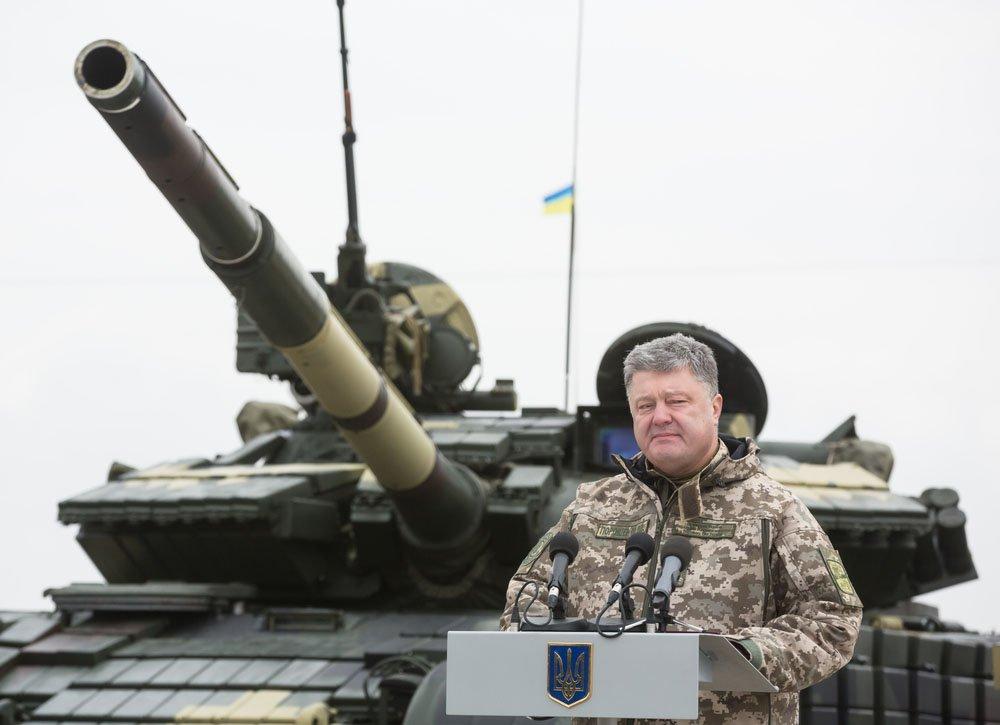 Порошенко объяснил продолжение войны на Донбассе «стрельбой России»