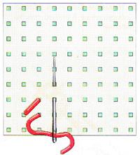 Вышивка крестиком по диагонали. Двойная диагональ слева направо (фото 2)