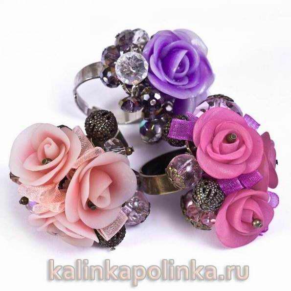 Мастер-класс: Изготовление кольца в виде букетика роз