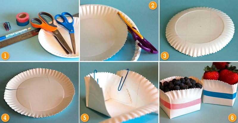 упаковки из бумажных тарелок