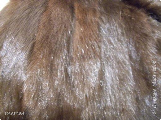 Гардероб Мастер-класс Шитьё Ремонт шубы из натурального меха Клей Мех Нитки Ткань фото 18