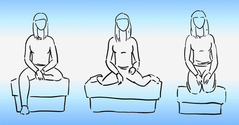 Оптимальная поза для сидячего положения