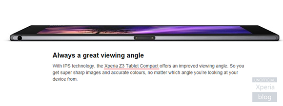 Sony снова упомянула имя Xperia Z3 Tablet Compact