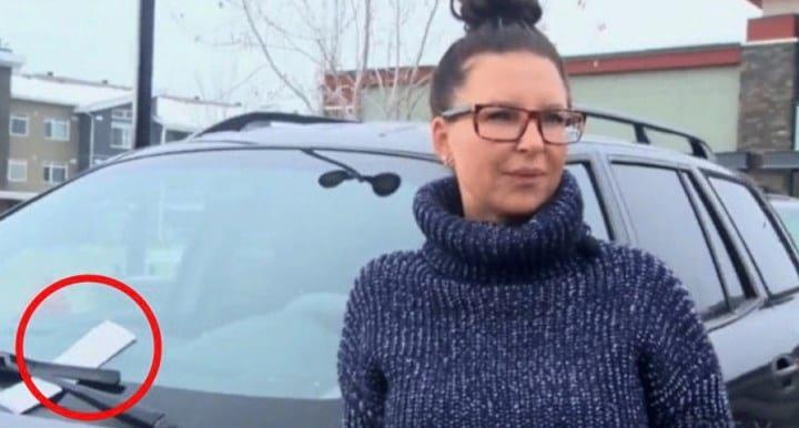 Женщина выпила вина, поэтому оставила авто на стоянке. Утром она нашла записку
