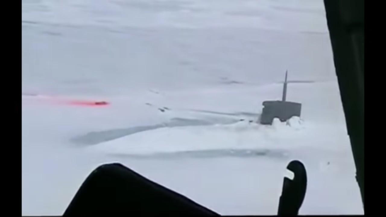 В сети опубликовано видео обнаружения АПЛ ВМС США российским вертолетом