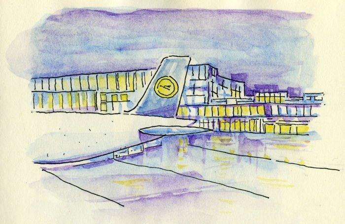 Аэропорт Франкфурта Любовь, история, комикс, любовь на расстоянии, рисунки, романтика, творчество, художник