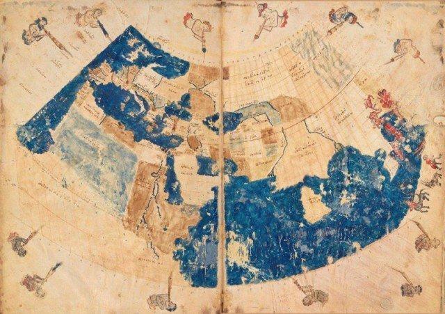 Карта мира Птолемея, 150 н.э. история, люди, мир, фото