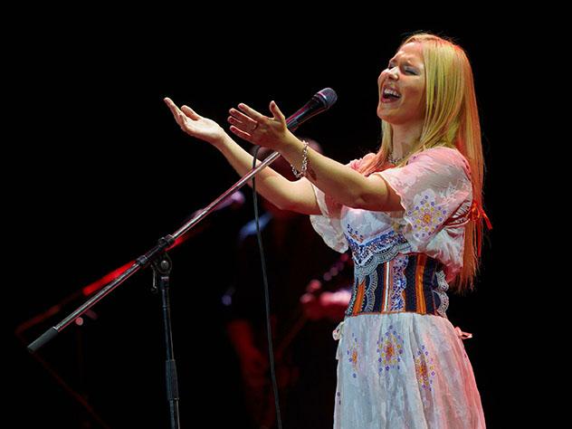 Пелагея порадовала новосибирцев бесплатным концертом