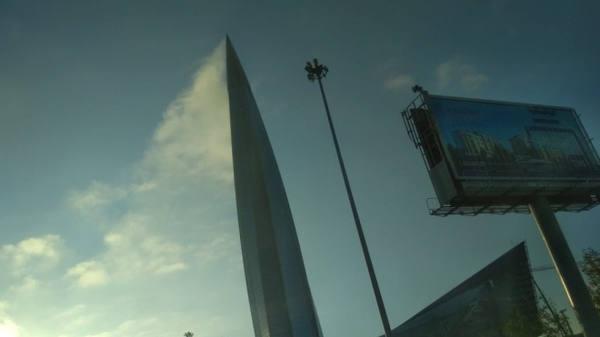 """""""Пожар"""" в """"Лахта-Центре"""" оказался необычным облаком (видео)"""