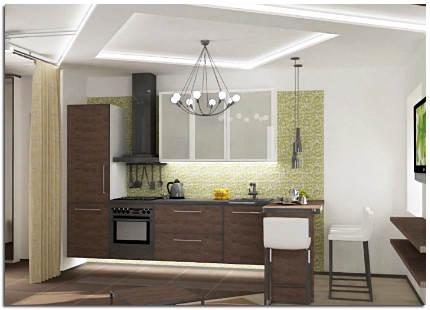 Ремонт кухни панелями своими руками 26
