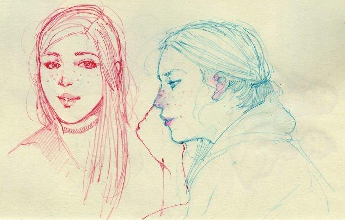 Портрет Любовь, история, комикс, любовь на расстоянии, рисунки, романтика, творчество, художник
