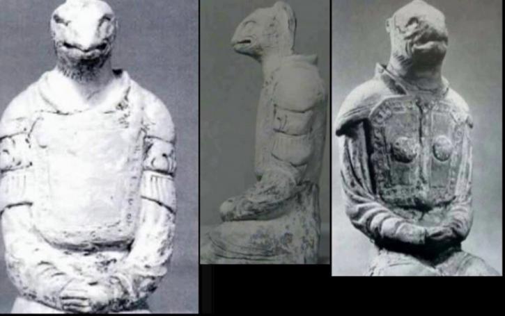 В японском храме Хорюдзи люди поклонялись статуям рептилоидов (видео)