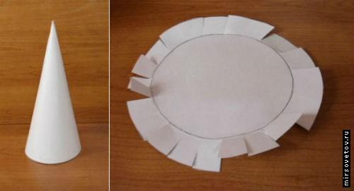 Как сделать елку из бумаги и кофе