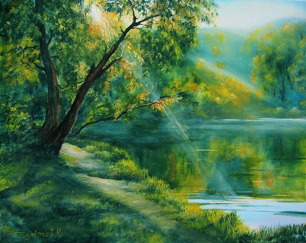 Лето в живописи современных художников