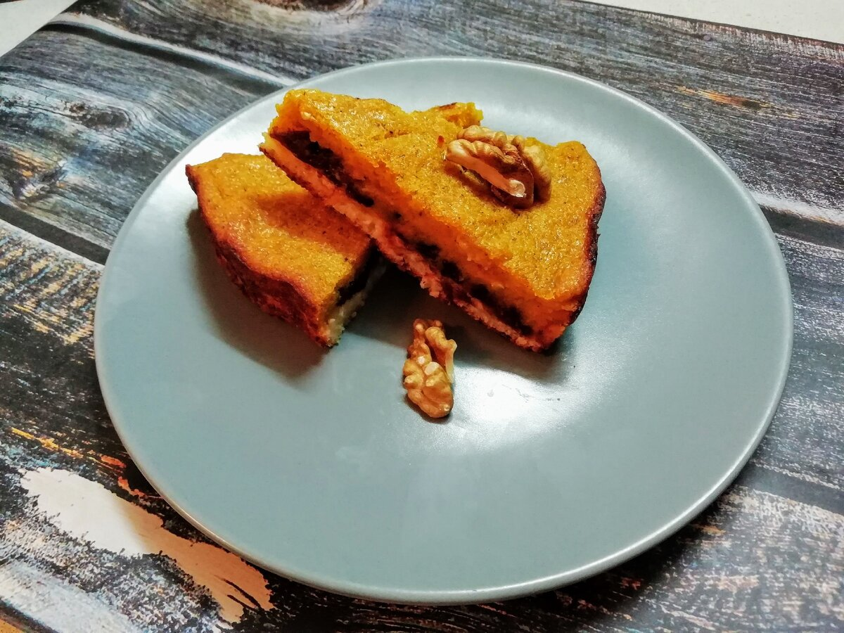 Творожно-тыквенный пирог. Мой рецепт. Фото автора/Дзен канал