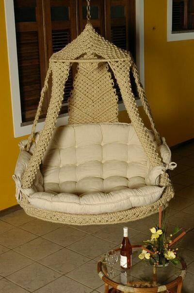 Макраме кресло