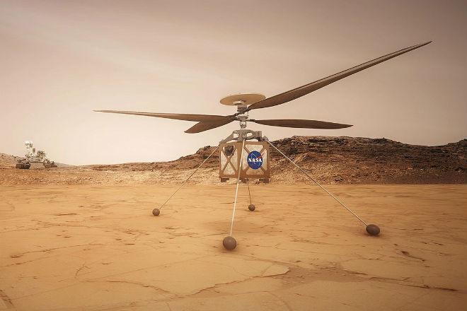 НАСА построили марсианский вертолет