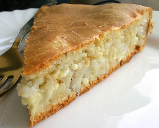 Бабушкин пирог с рисом и яйцом