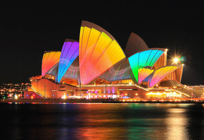 Фестиваль света и музыки в Сиднее