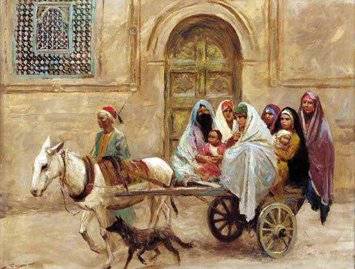 015 Арабская семья на осле, запряженном в тележку (An Arab Family On A Donkey Drawn Cart) (512x389, 191Kb)