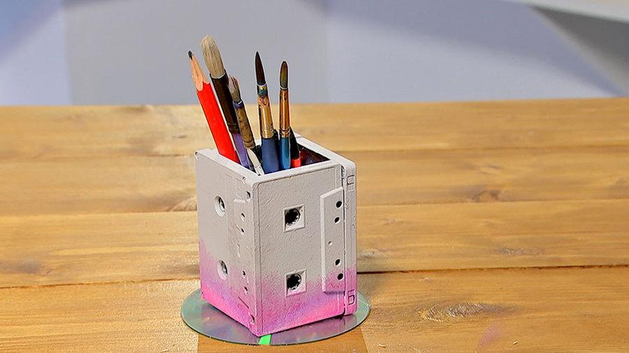 Карандашница из кассет